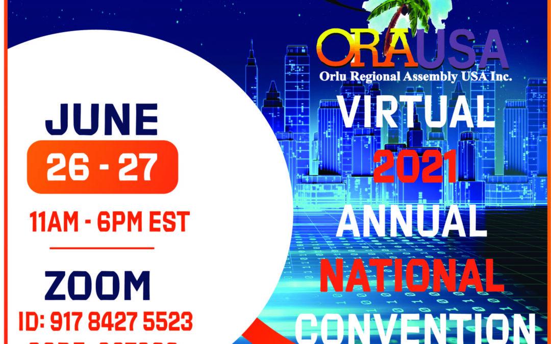 ORAUSA CONVENTION GOES VIRTUAL…AGAIN